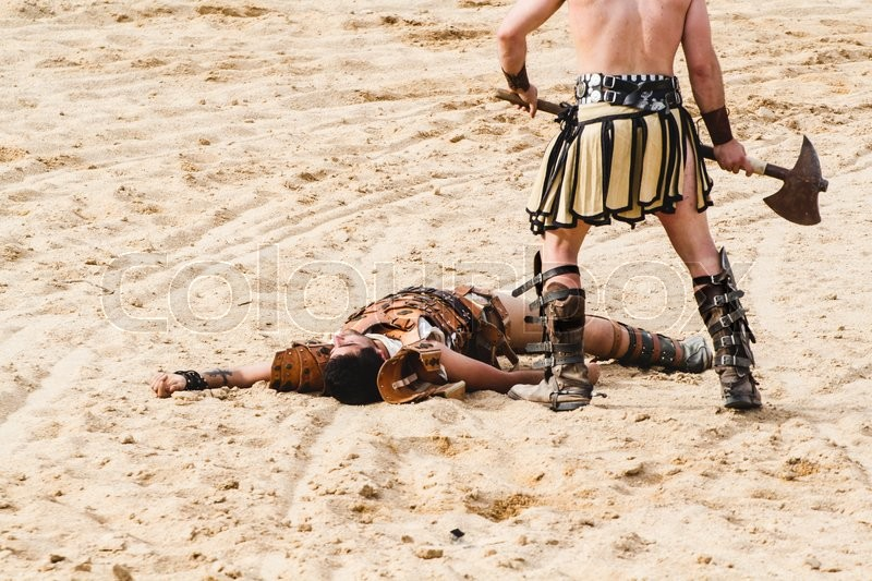 Kill Gladiator Fighting In The Arena Of Roman Circus