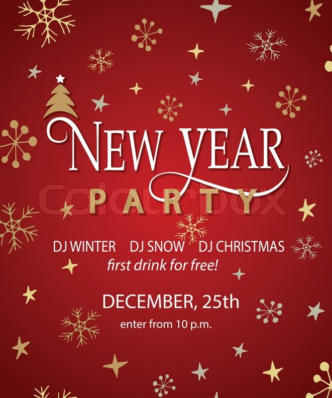 new year party background design template new year party banner flyer lettering for new year party invitation card template vector illustration eps10