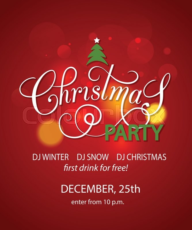 Christmas Party background design template. Christmas Party banner ...