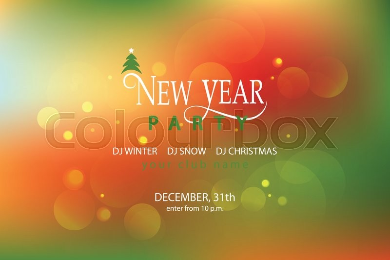new year party blured background design template new year party banner flyer lettering for new year party invitation card template