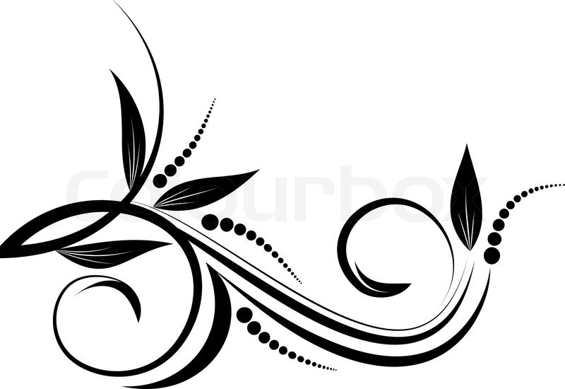 Abstract Floral Background For Design Vector 1687935 on Swirl Border Stencil