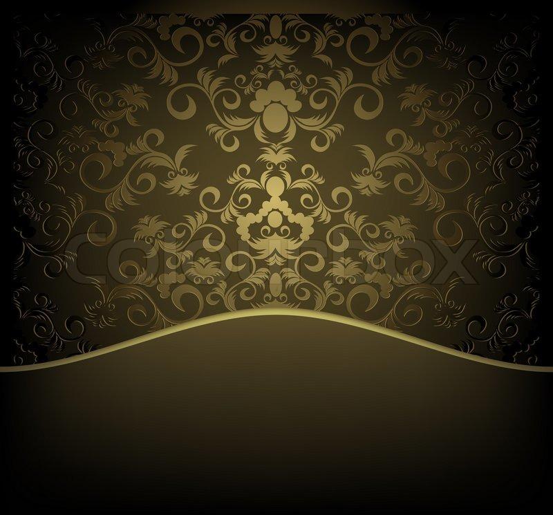 Dekorative Design-Hintergrund mit floralen Ornament golden ...   800 x 745 jpeg 103kB