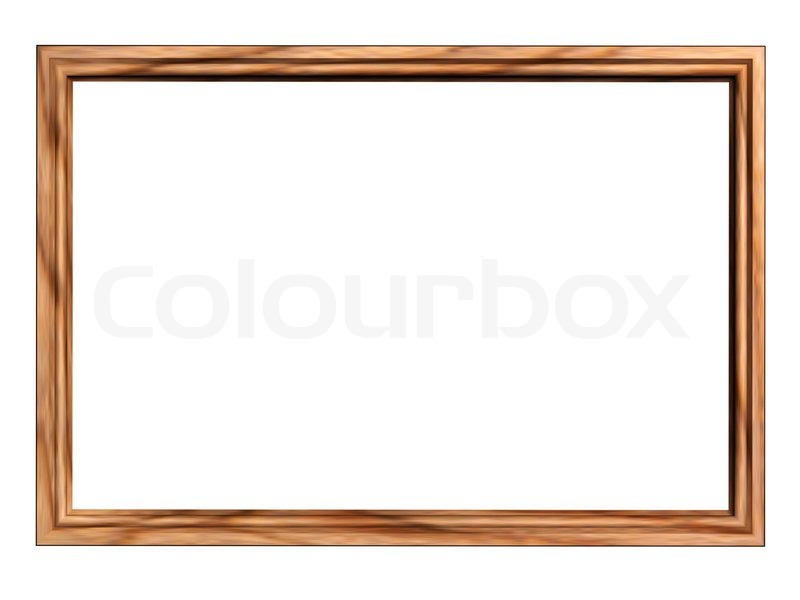 rectangle wooden frame isolated on   stock image