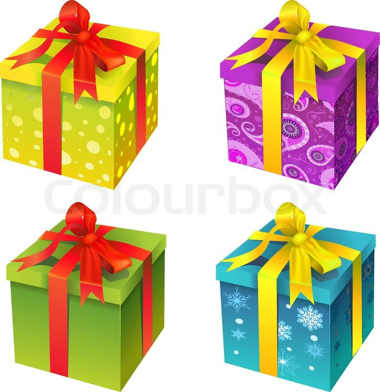 Vector gift box yellow color stock vector colourbox stock vector of vector gift box yellow color negle