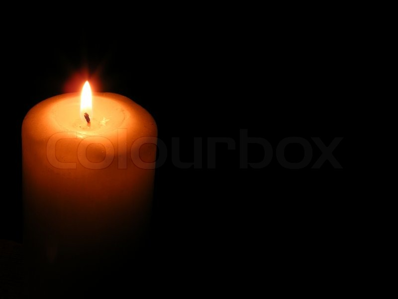 Stock image of 'Illuminated, flame, candlelight, candle, tranquil, wax, dark, scene, burning, peace, celebration, black, romance, isolated, glowing, fire, symbols, nobody, lighting, symbol, light, equipment, hope, holiday, christmas, nostalgia, spirituality, backgrounds,'