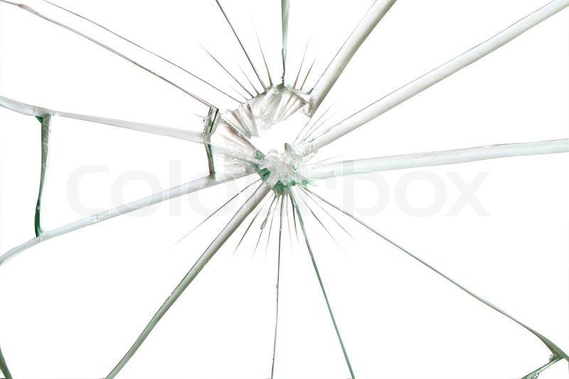 zerbrochenes glas hintergrund f r ihre bilder auf wei mit clipping pfad stockfoto colourbox. Black Bedroom Furniture Sets. Home Design Ideas