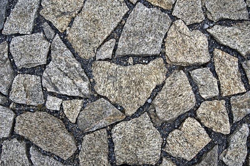 Home Front Elevation Jobs : The pavement of granite blocks and black gravel texture