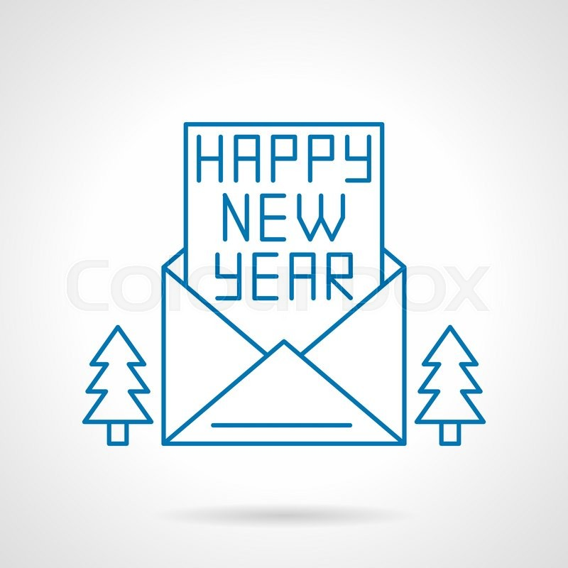 Happy new year letter ibovnathandedecker happy new year letter or card in an opening envelope and two fir m4hsunfo