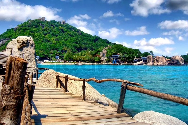 Stock image of 'Tropical landscape. Ko Tao island, Thailand'