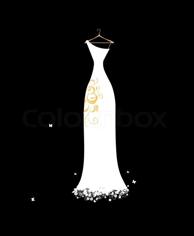 Cartoon, Dress, Wedding