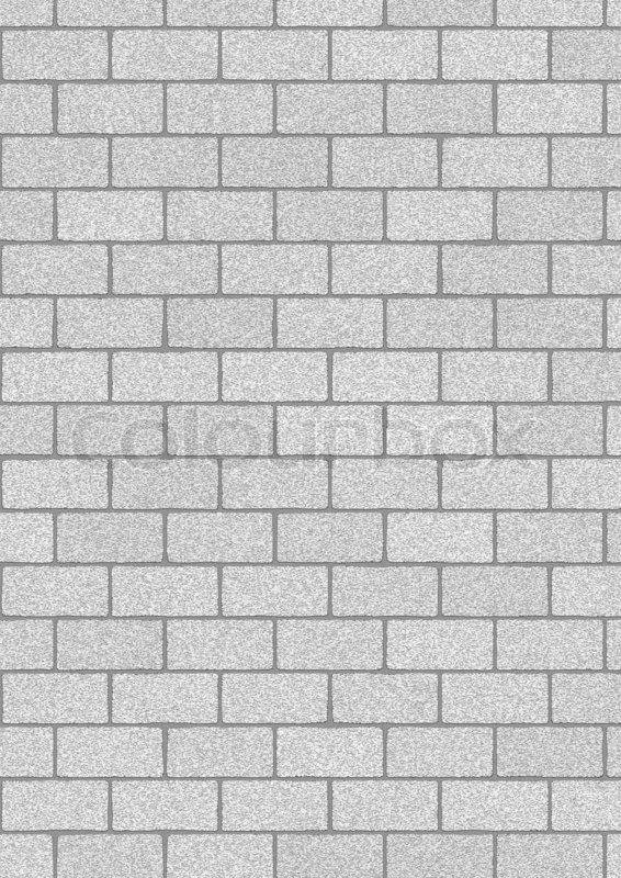 Illustration Of The Grey Bricks Background
