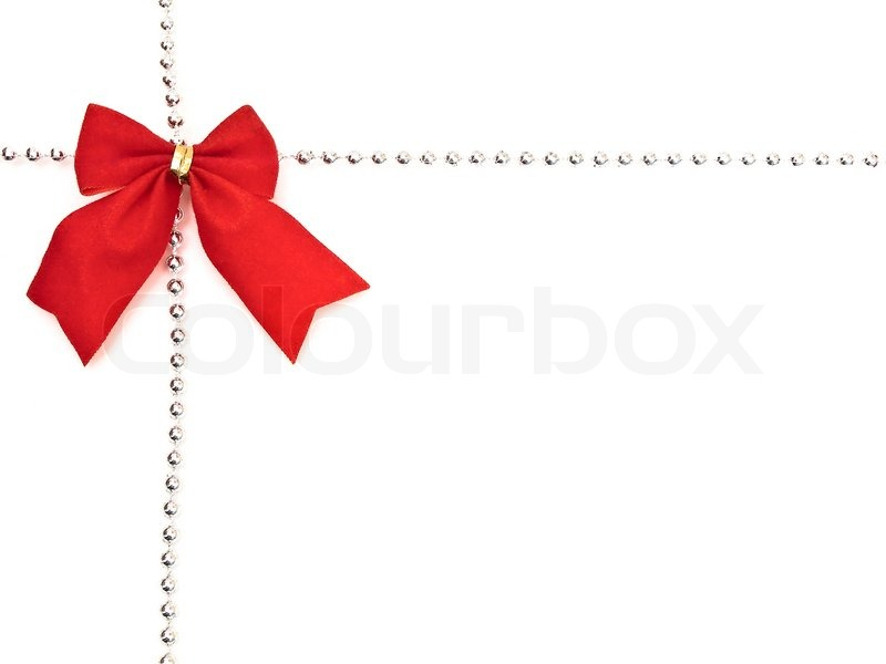 Border and red bow with copyspace for your text stock