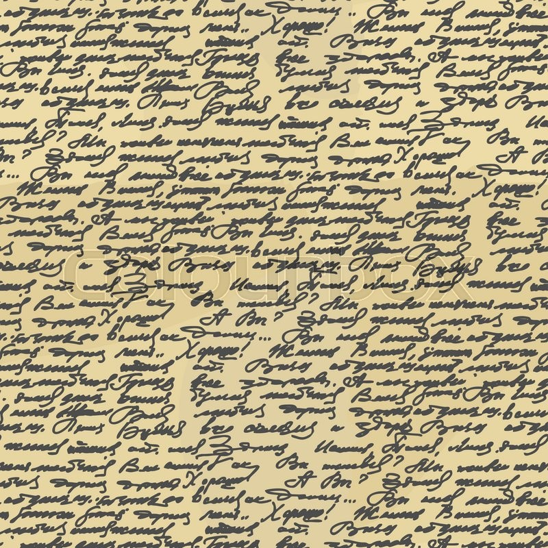 handwriting seamless pattern old abstract letter ancient writings