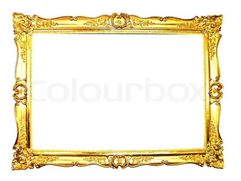 Vintage Bilderrahmen , vergoldet, weißen Hintergrund. | Stockfoto ...