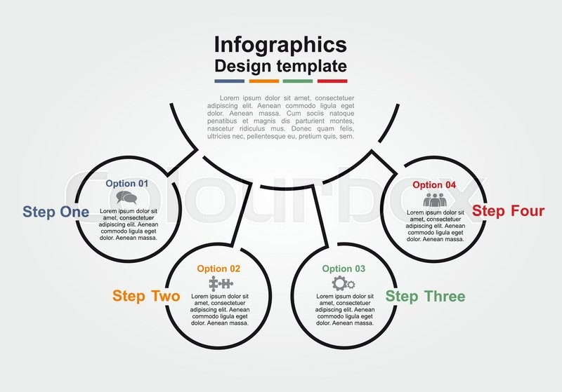infographic design template with place for your data