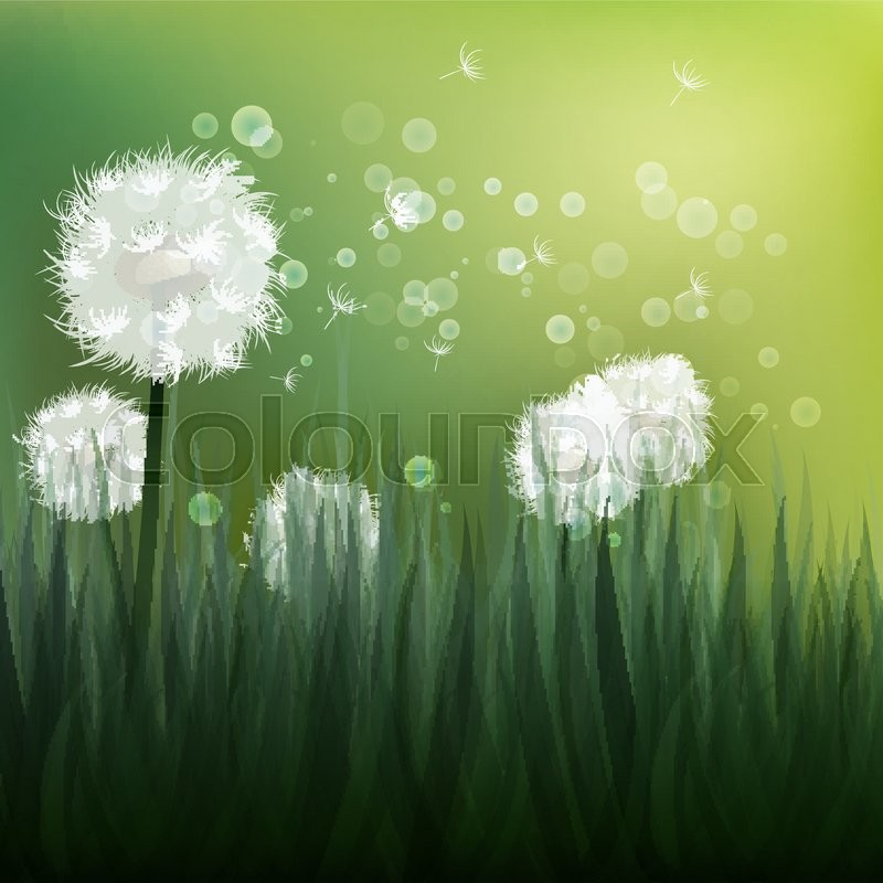 e1c6c7d846543 Spring background with white ... | Stock vector | Colourbox