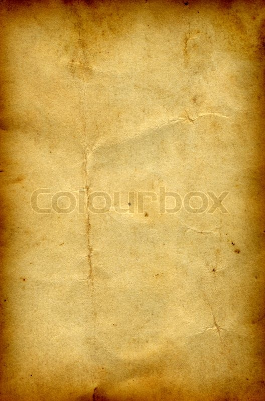 Old Paper Grunge Background With A Burned Frame Stock