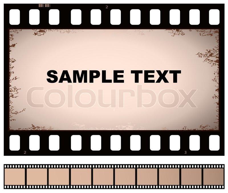 Vektor alten Filmstreifen   Vektorgrafik   Colourbox