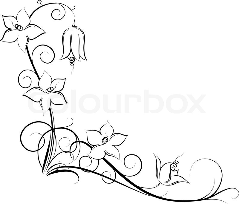 Flower Vine Line Drawing : Ramme viktoriansk illustration stock vektor colourbox