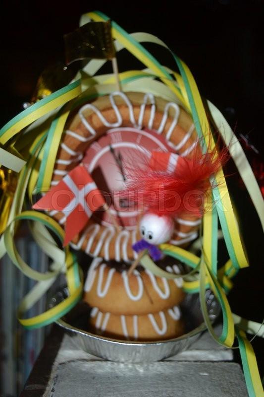 Kransekage Nytår Fest Stock Foto Colourbox