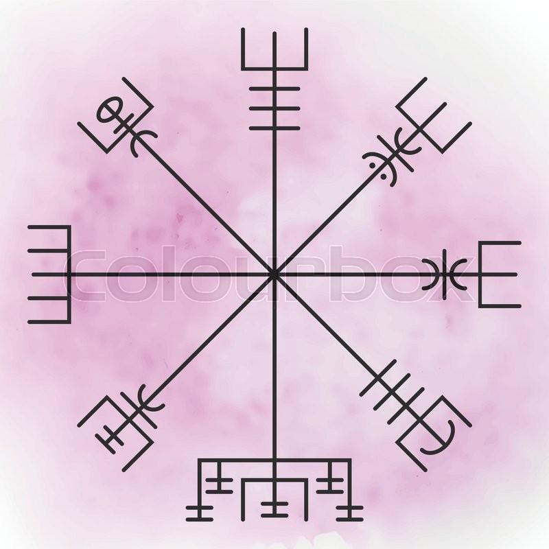 Vegvisir The Magic Navigation Compass Of Vikings Runescript From