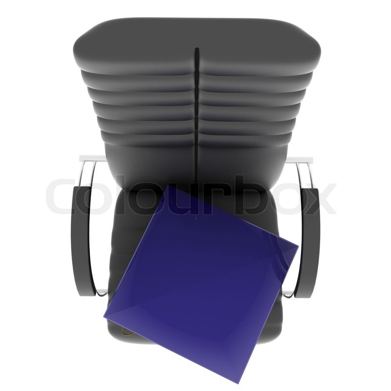 Bachelor\'s hat in office chair. Isolated on white. Top view | Stock ...