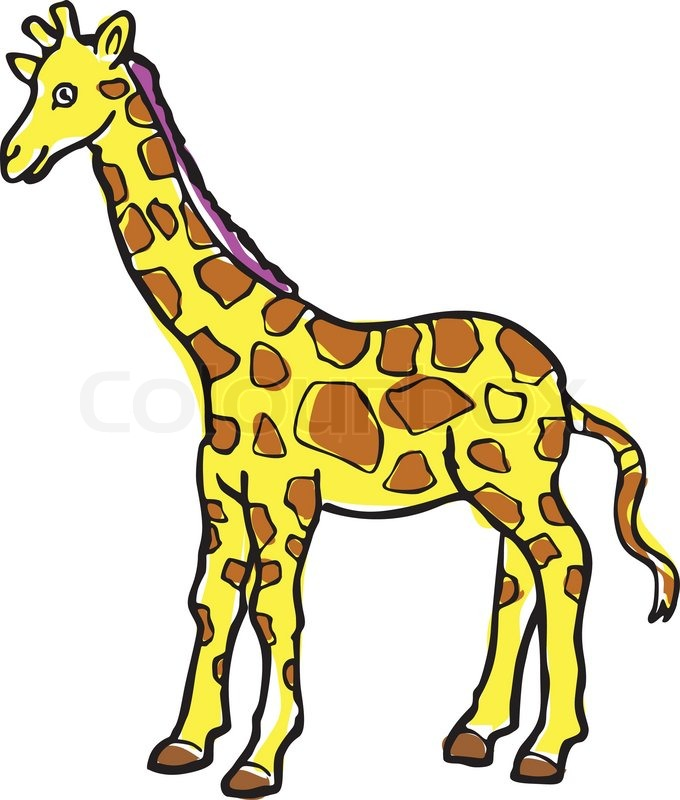 Illustraion Of A Giraffe Vector