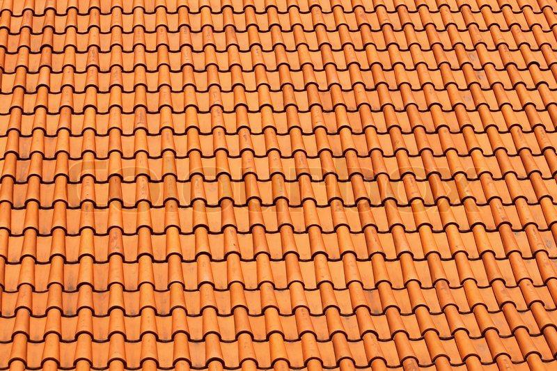rote fliesen dach hintergrund stockfoto colourbox. Black Bedroom Furniture Sets. Home Design Ideas
