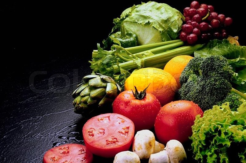 Stock image of 'Fresh fruit and vegetable'