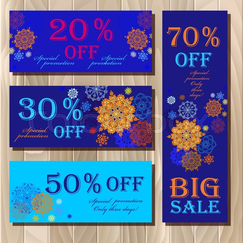 big sale voucher gift certificate coupon template holiday or