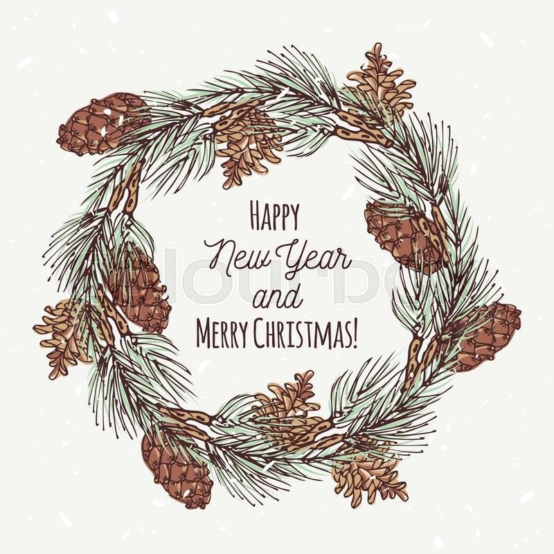 christmas pine cone drawing -#main