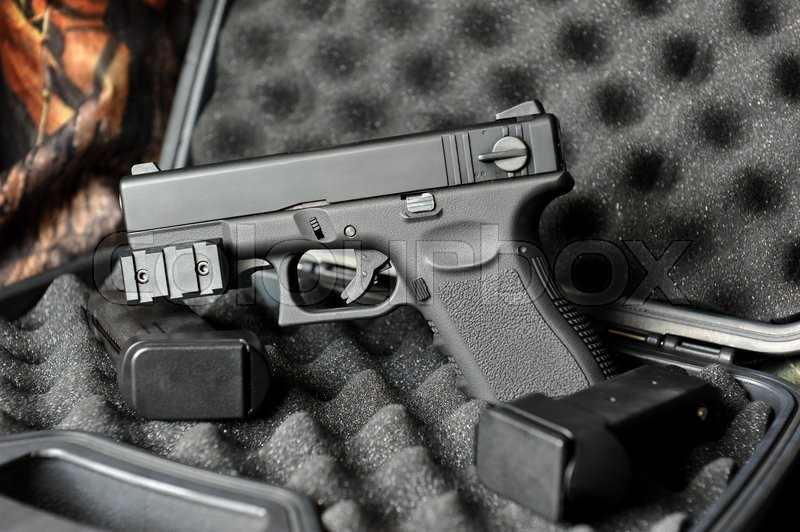 Glock 23 Milspec 40 Super Short Gun Stock Photo Colourbox