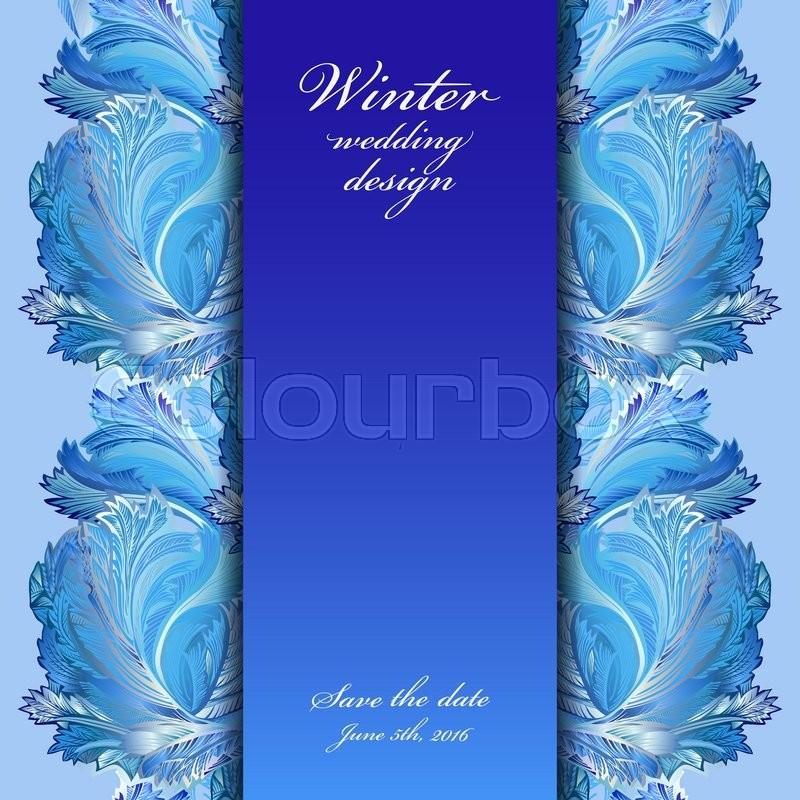 Cold Winter Ice Ornament Border Hoarfrost Texture Decor