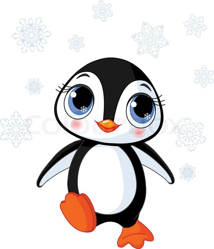 illustration of cute winter penguin in antarctica stock vector rh colourbox com antarctic clip art antarctic clipart