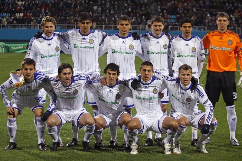 Team Dynamo (Kiev) editorial photography. Image of rain ...  |Dinamo Kiev