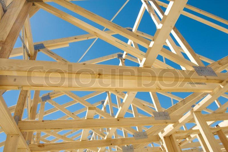 residential construction framing new residential construction home framing against a blue sky