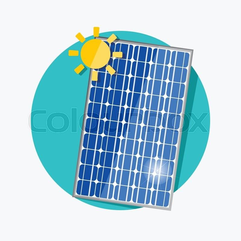 Solar Panel Flat Icon Vector Stock Vector Colourbox
