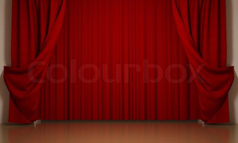 røde gardiner Røde gardiner med åbenvinklet | stock foto | Colourbox røde gardiner