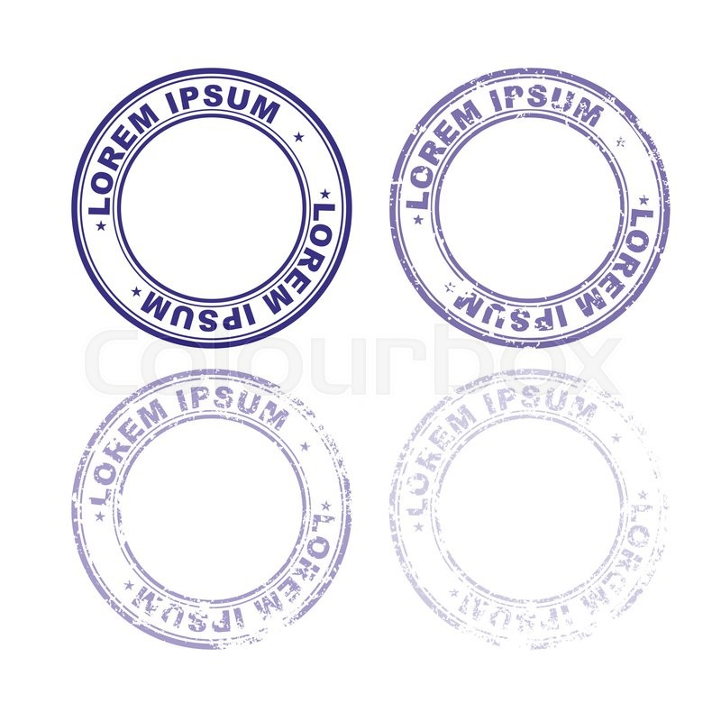 Set Rubber Stamp For Documents Stock Vector Colourbox