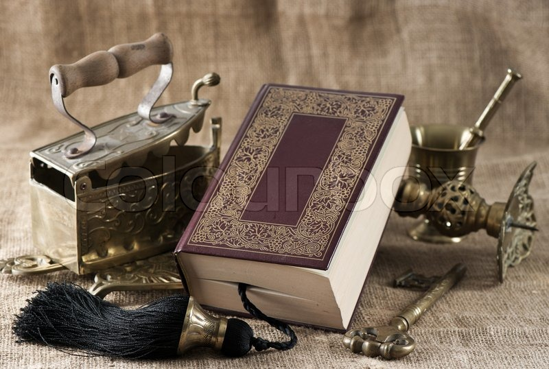 old book vintage objects stock photo colourbox. Black Bedroom Furniture Sets. Home Design Ideas