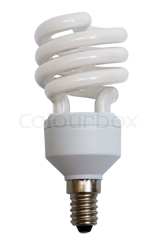 Modern electric lamp on a white background | Stock Photo | Colourbox