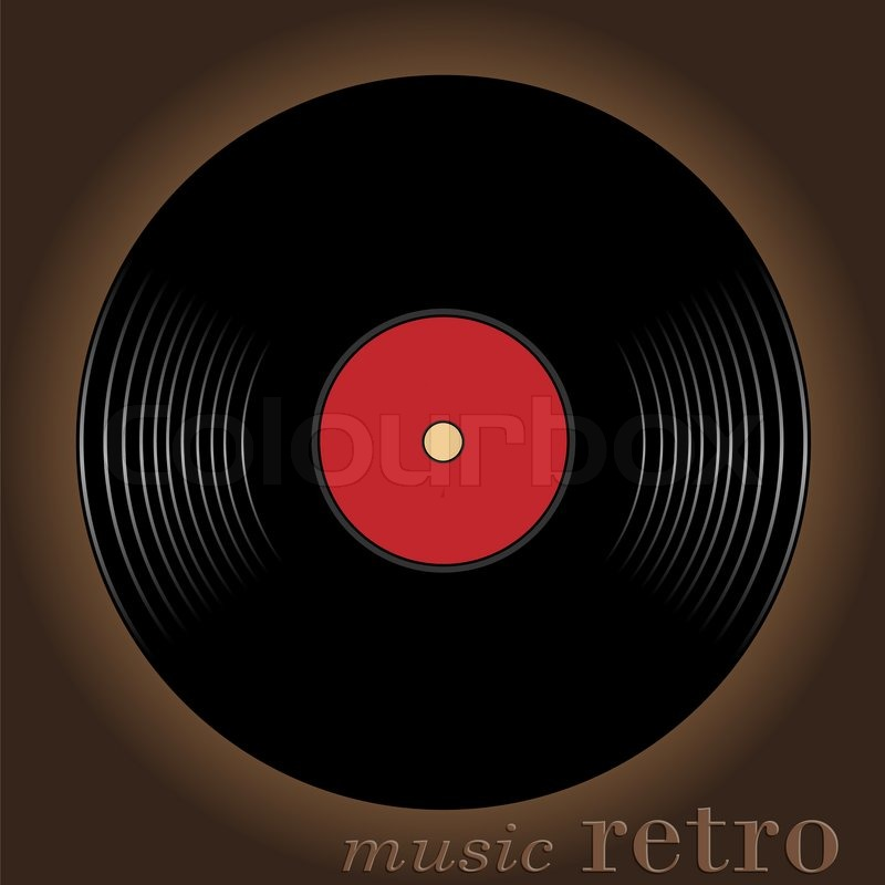 Old musical disk located against a dark background stock for Classic house cd