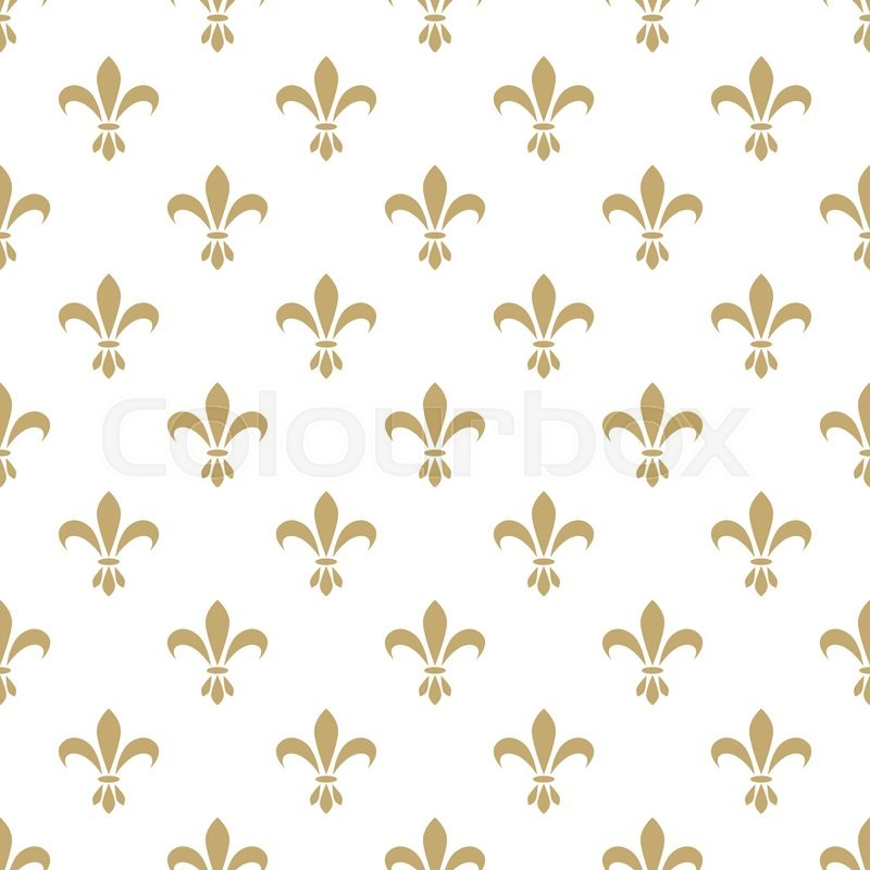fleur de lis seamless vector pattern french vintage