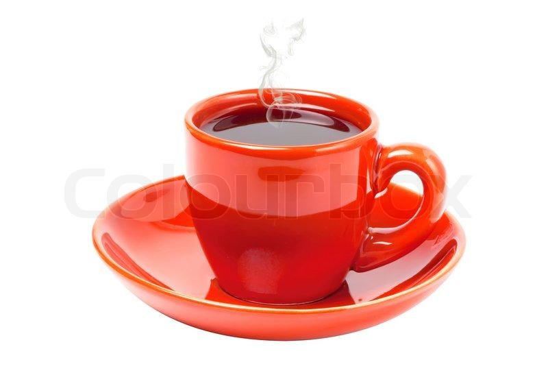 hot coffee white background - photo #49