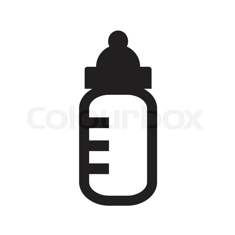 baby milk bottle icon stock vector colourbox rh colourbox com baby bottle vector free baby bottle vector image