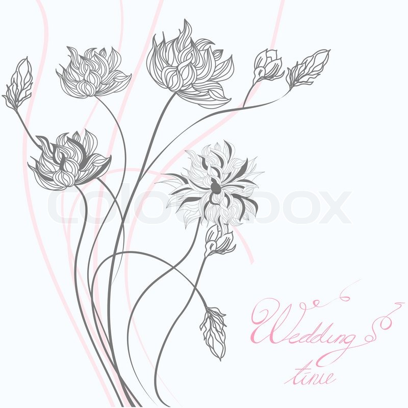 Template For Wedding Greeting Card Stock Vector Colourbox