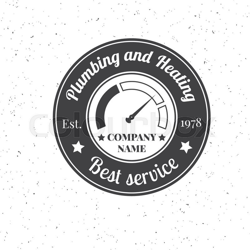 Vintage Plumbing, Heating Services logo, labels and badges. Stylish ...