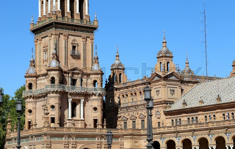 Buildings On The Famous Plaza De Espana Was Venue For Latin American Exhibition Of 1929