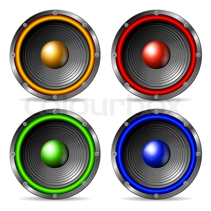 Audio speakers set iso...