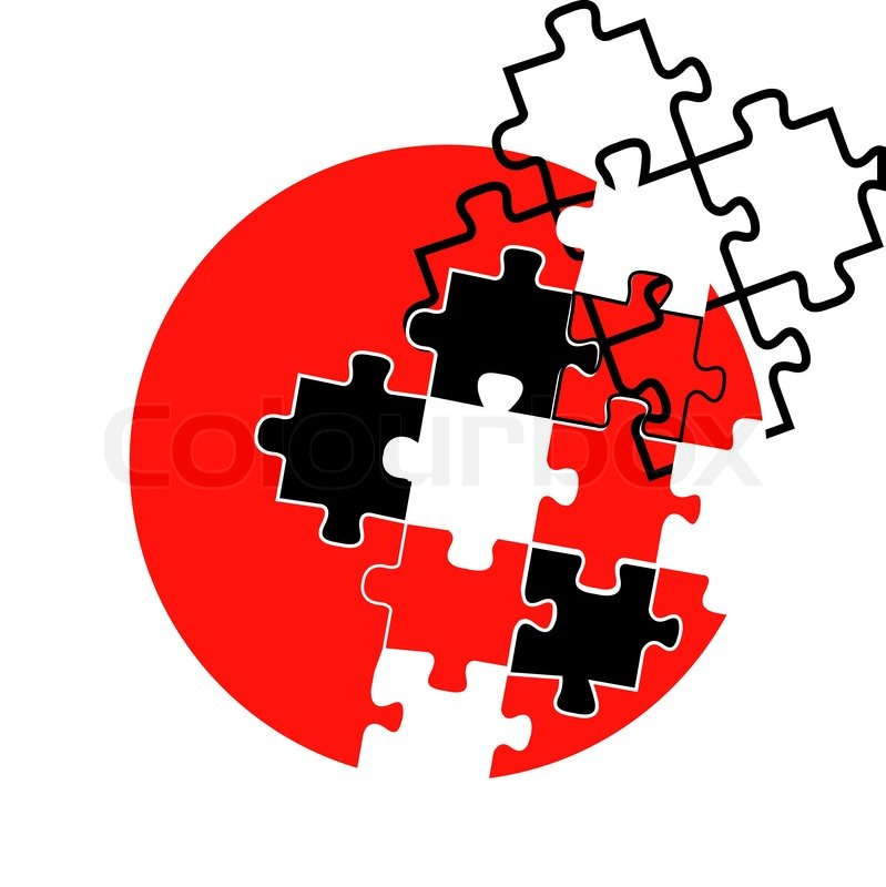 isolated japanese concept symbol design or vector red black and